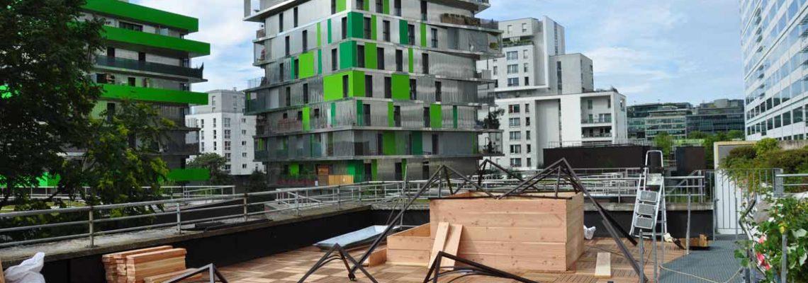 La Traversine – Mise en place sur la terrasse
