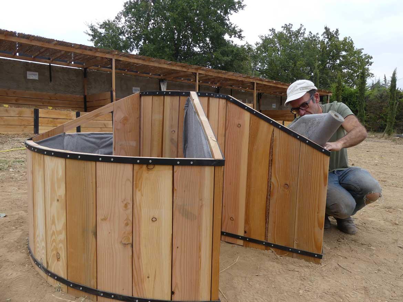 Construction of the keyhole – Transjardins