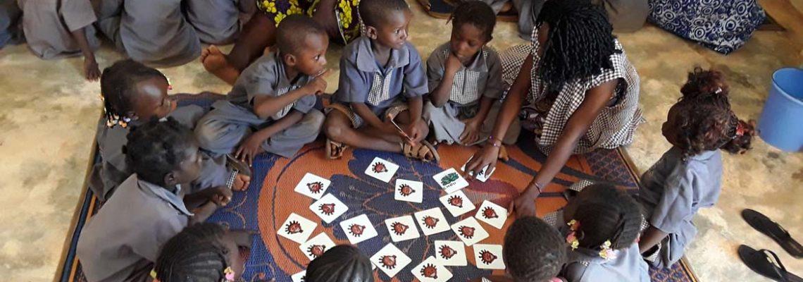 Jeu de memory réalisé pour la maternelle du Village Laafi.