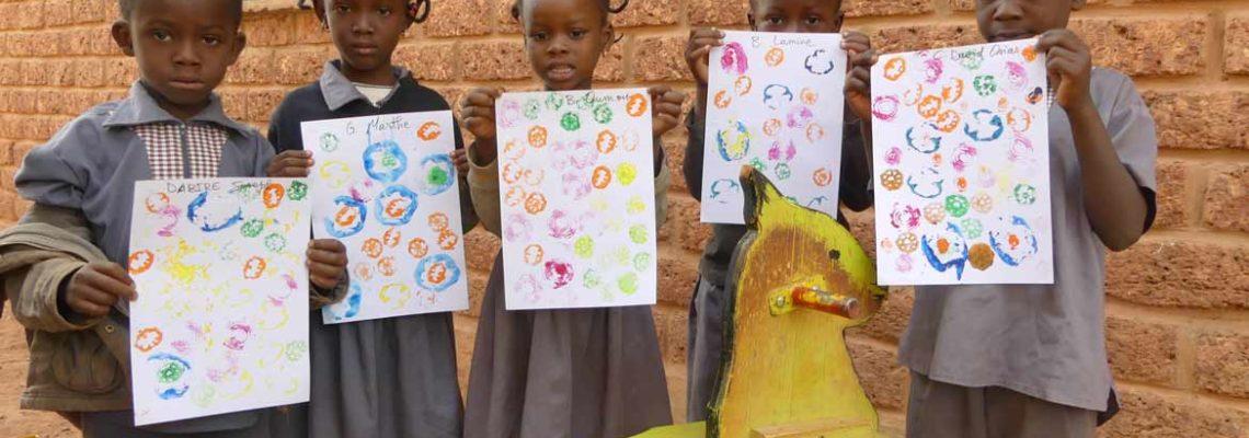 Pochoir végétal à Laafi, au Burkina Faso